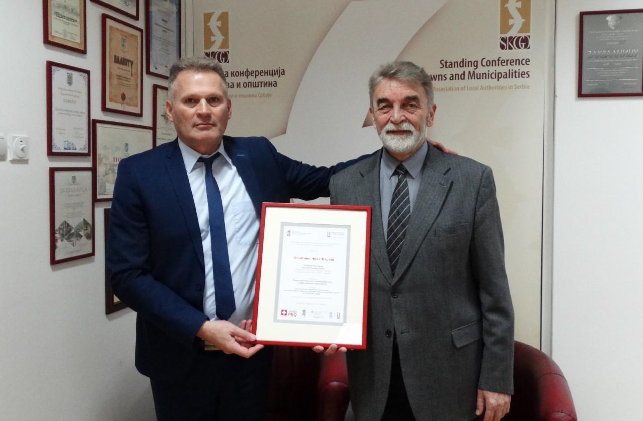 Nova Varoš dobila priznanje za transparentnost i učešće javnosti u radu