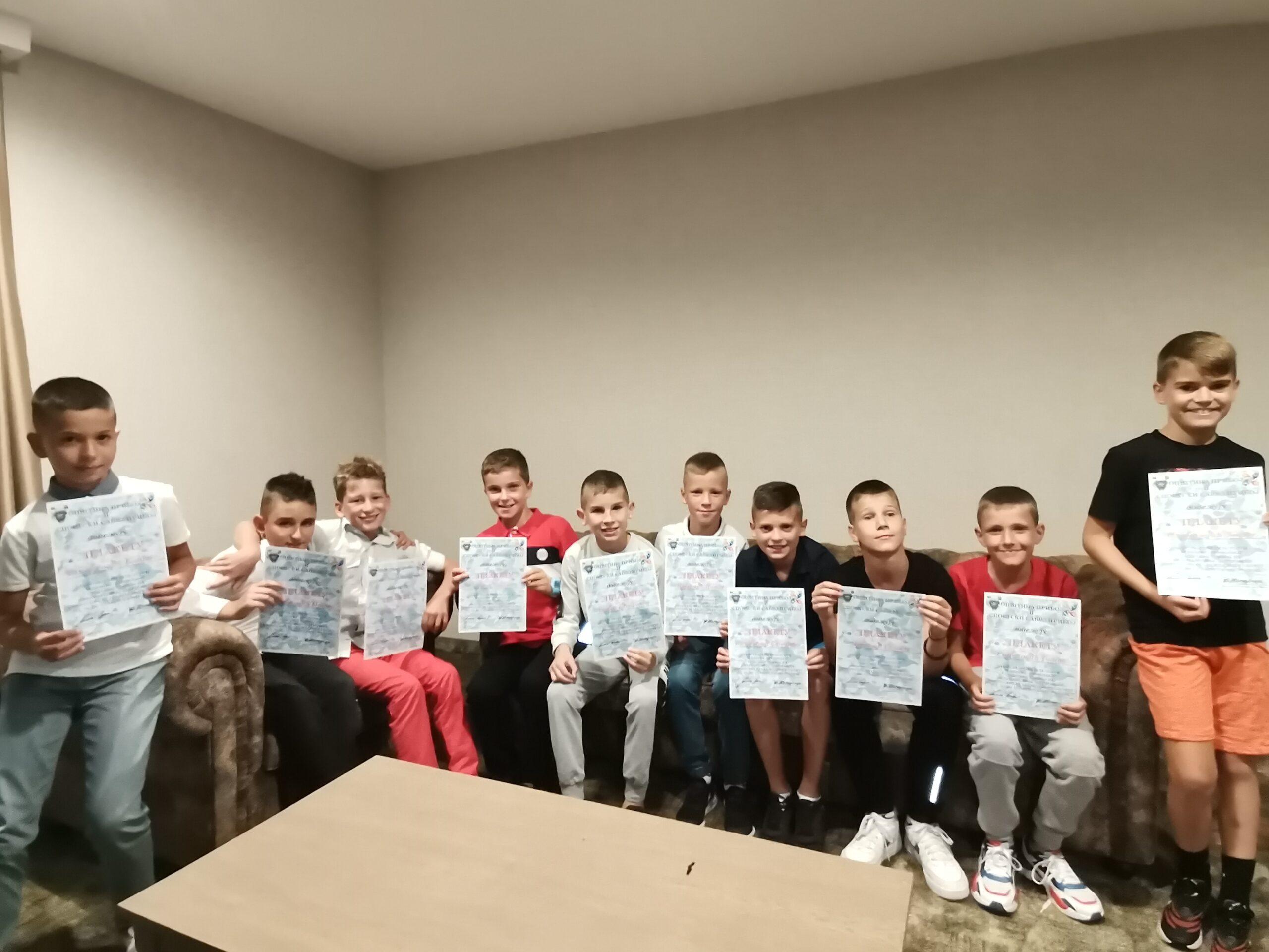 Svečani prijem za mlade pribojske fudbalere, osvajače zlatne medalje na Sportskim igarama mladih u Splitu